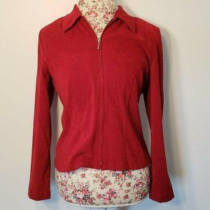 AGB Byer California Red Collared ZIp Up Jacket